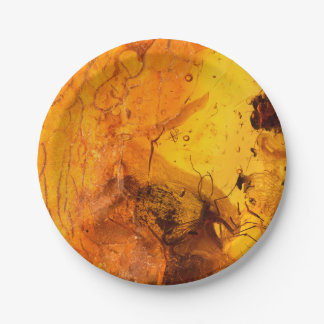 Amber stone texture background paper plate