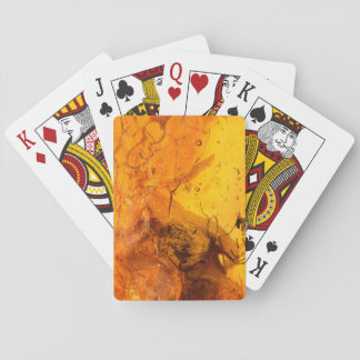 Amber stone texture background playing cards