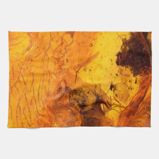 Amber stone texture background tea towel