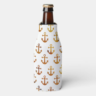 Amber texture anchors pattern bottle cooler
