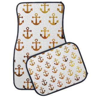 Amber texture anchors pattern car mat