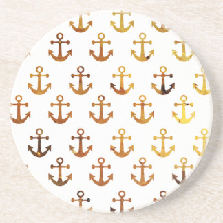 Amber texture anchors pattern coaster