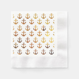 Amber texture anchors pattern disposable napkins