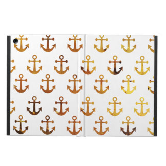 Amber texture anchors pattern iPad air case