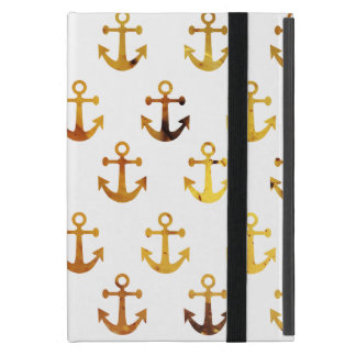 Amber texture anchors pattern iPad mini case