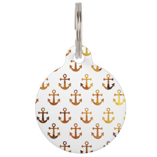 Amber texture anchors pattern pet ID tag