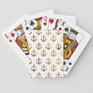 Amber texture anchors pattern playing cards