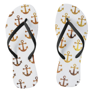 Amber texture anchors pattern thongs