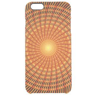 Amber Vortex Mandala Clear iPhone 6 Plus Case