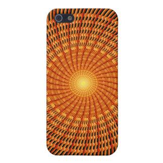 Amber Vortex Mandala iPhone 5 Cases
