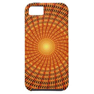 Amber Vortex Mandala Tough iPhone 5 Case