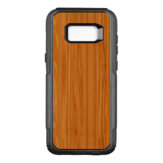 Amber Wood Grain Design OtterBox Commuter Samsung Galaxy S8+ Case