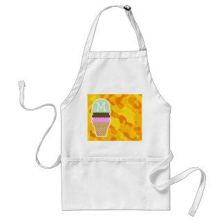 Amber Yellow Camo; Ice Cream Cone Apron