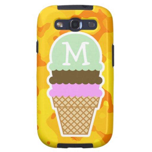Amber Yellow Camo; Ice Cream Cone Galaxy S3 Cases