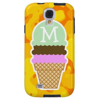 Amber Yellow Camo; Ice Cream Cone Galaxy S4 Case