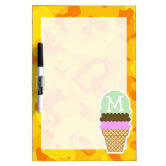 Amber Yellow Camo; Ice Cream Cone Dry-Erase Boards
