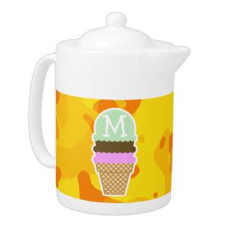 Amber Yellow Camo; Ice Cream Cone