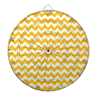 Amber Yellow Chevron; zig zag Dartboards