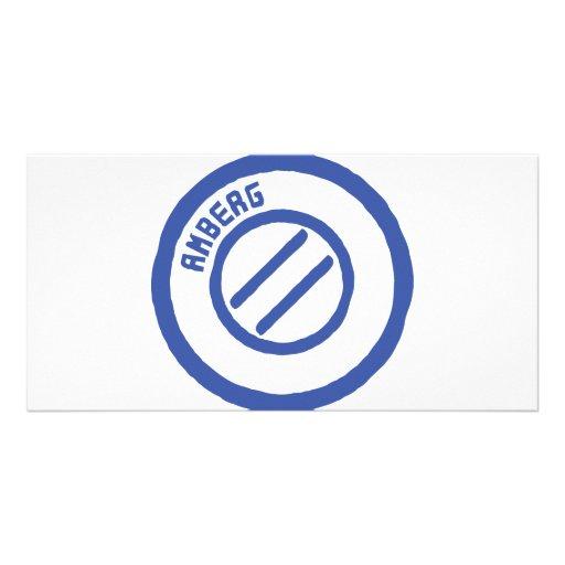 AMBERG City STamp Photo Greeting Card