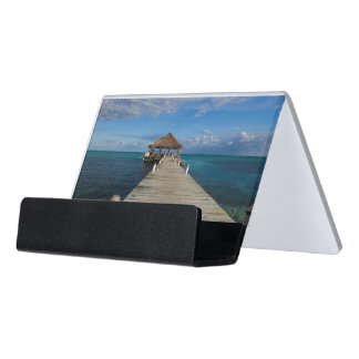 Ambergris Caye Belize Desk Business Card Holder