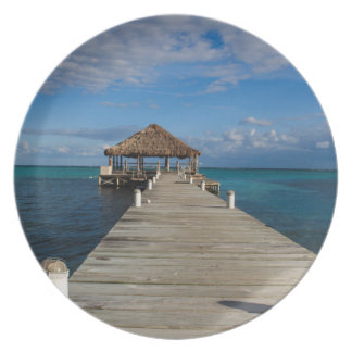 Ambergris Caye Belize Dinner Plate