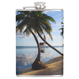 Ambergris Caye Belize Hip Flask