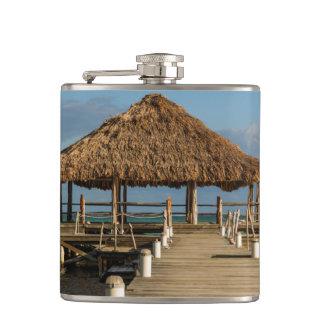 Ambergris Caye Belize Hip Flask