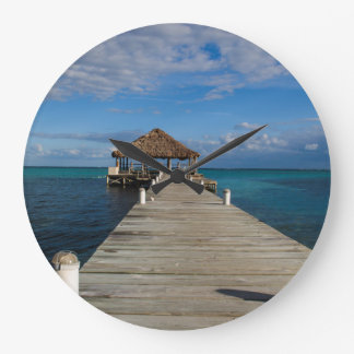 Ambergris Caye Belize Large Clock