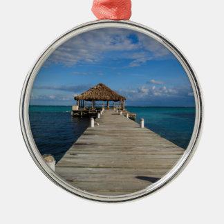 Ambergris Caye Belize Metal Ornament