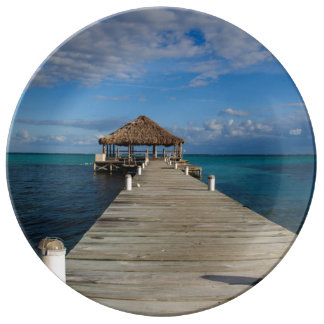 Ambergris Caye Belize Porcelain Plate