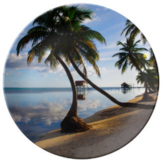 Ambergris Caye Belize Porcelain Plates