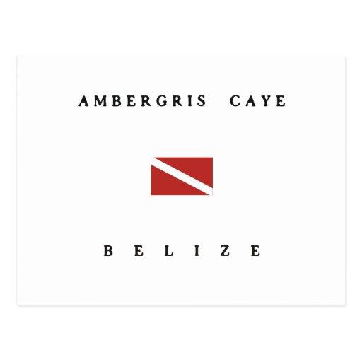 Ambergris Caye Belize Scuba Dive Flag Postcard