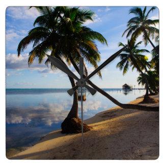 Ambergris Caye Belize Square Wall Clock