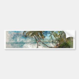 Ambergris Caye Belize Travel Destination Bumper Sticker