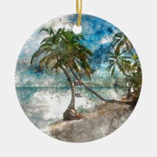 Ambergris Caye Belize Travel Destination Ceramic Ornament