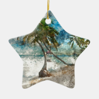 Ambergris Caye Belize Travel Destination Ceramic Ornament