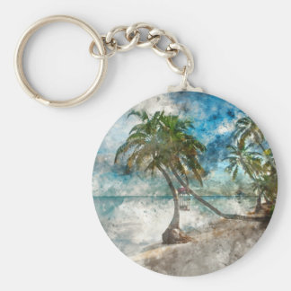 Ambergris Caye Belize Travel Destination Key Ring