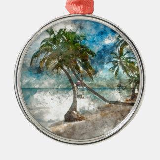 Ambergris Caye Belize Travel Destination Metal Ornament