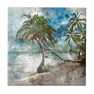 Ambergris Caye Belize Travel Destination Tile