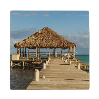 Ambergris Caye Belize Wood Coaster