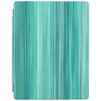 Ambient #5 Teal, original modern stripped pattern iPad Cover