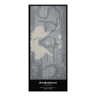 """Ambigram"" Value Bookmarks Rack Card"