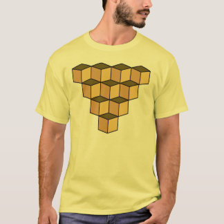 Ambiguous cubes illusion T-Shirt