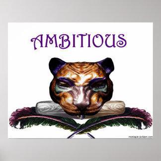 ambitious- feline wild cat print