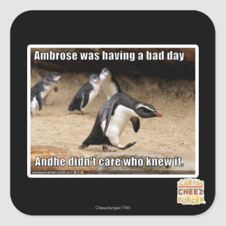 Ambrose was having a bad day stickers