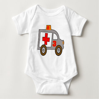 Ambulance 3rd Birthday Gifts Baby Bodysuit