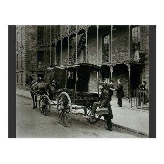 Ambulance Bellevue Hospital, New York City 1895 Postcard