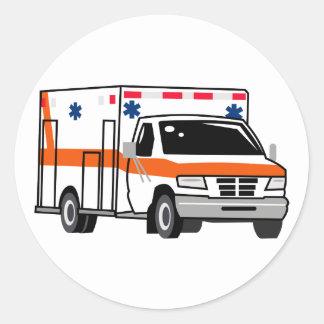 Ambulance Classic Round Sticker