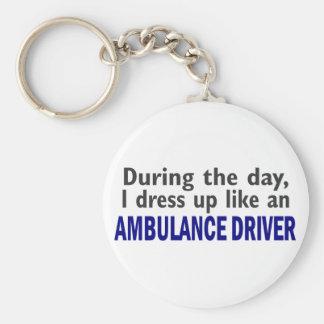 AMBULANCE DRIVER During The Day Key Ring
