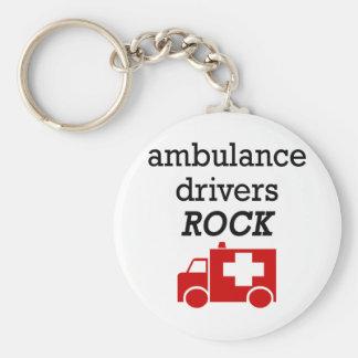 Ambulance Drivers Rock Basic Round Button Key Ring